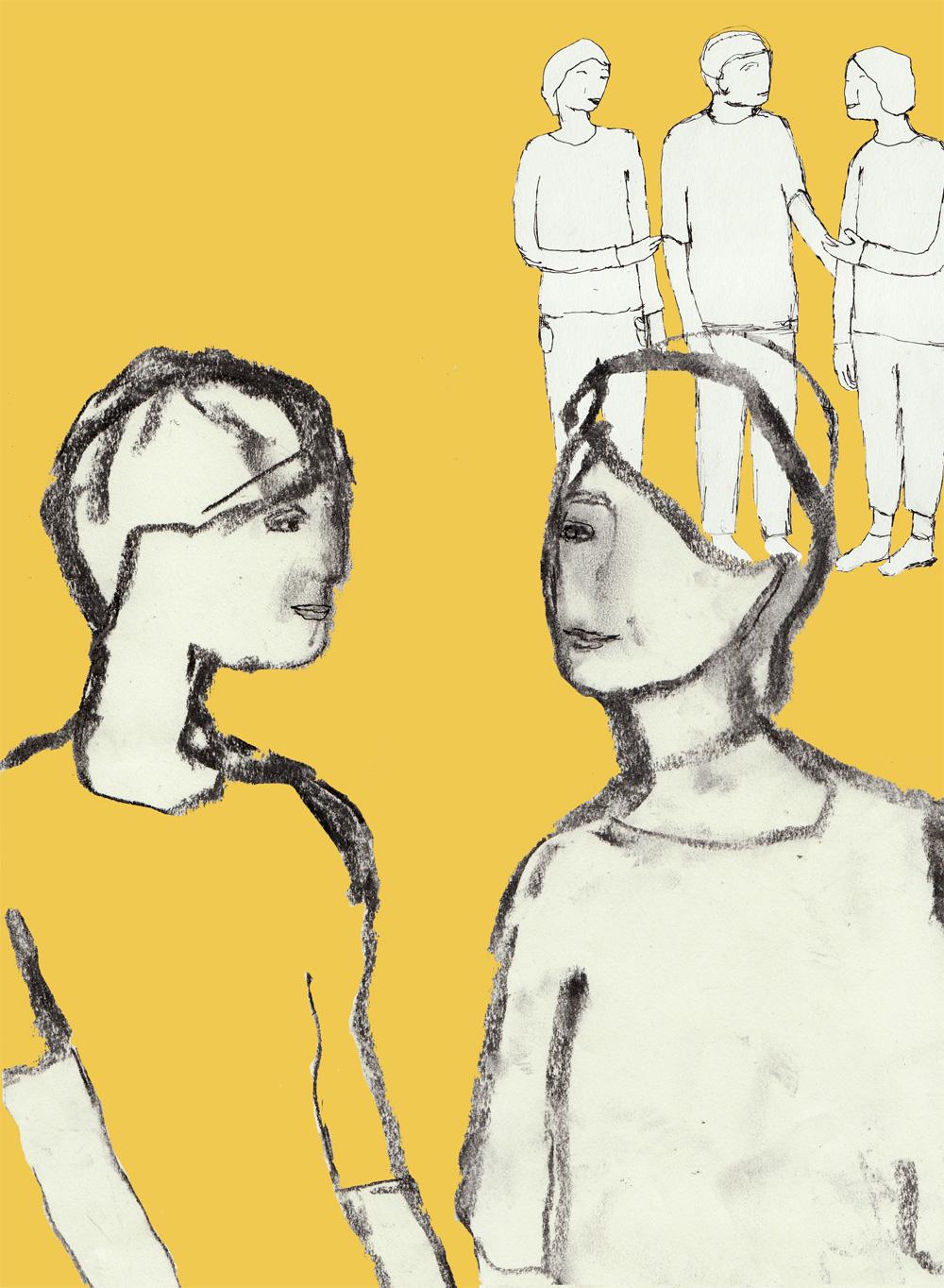 Illustration till folder om ledarstöd 2011